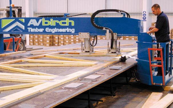 AV Birch 35Ton Truss Press