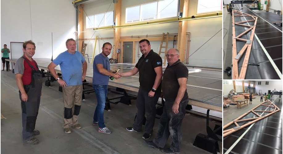 Apex Truss Press delivered and installed to award winning pre-fabricated building manufacturer in the Czech Republic.