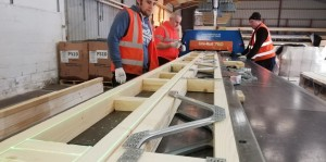 Lasers for timber engineering